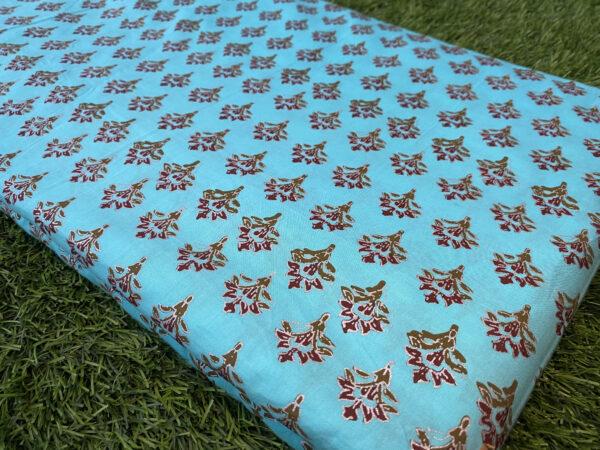 cotton Print Sky Blue