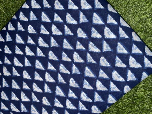 Cotton Print Navy Blue